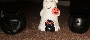 Ceramic Halloween tea light candle holders